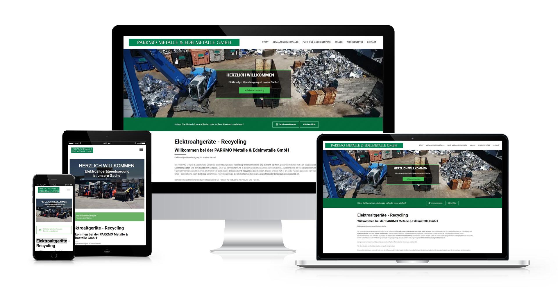 Referenzen: PARKMO Metalle & Edelmetalle GmbH