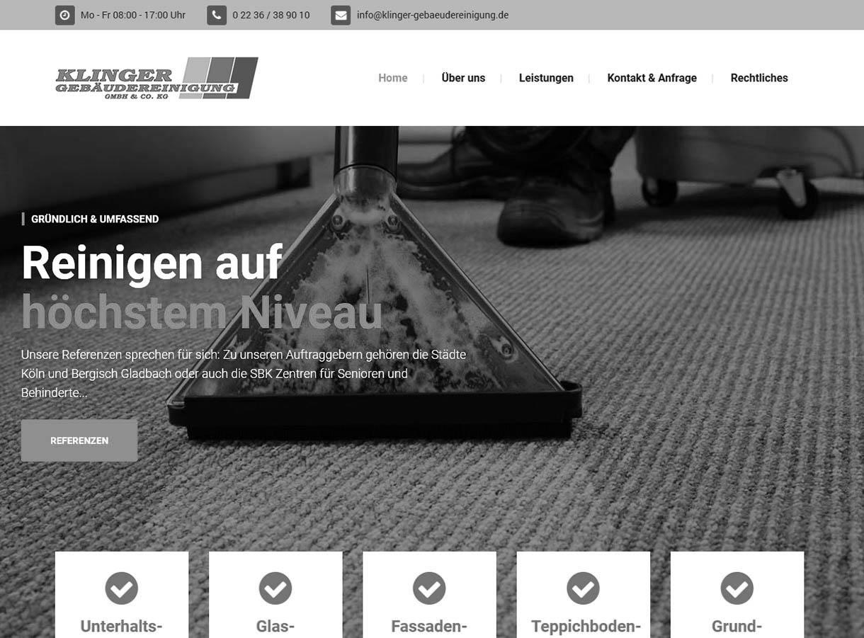 Referenzen: Klinger Gebäudereinigung Köln